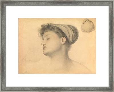 Study For Girl With Doves Framed Print by Anthony Frederick Augustus Sandys
