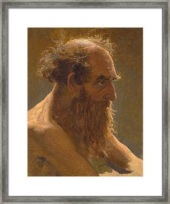 Study For Job And His Comforters Framed Print by Ilya Efimovich Repin