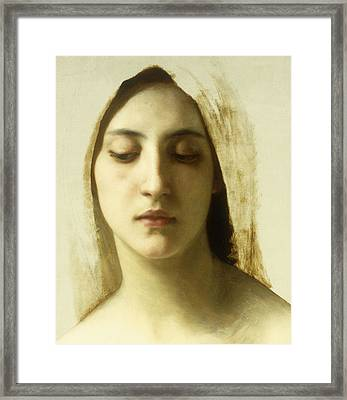 Study For La Charite Framed Print by William-Adolphe Bouguereau
