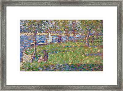 Study For La Grande Jatte Framed Print by Georges Seurat