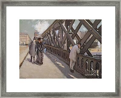 Study For Le Pont De L Europe Framed Print