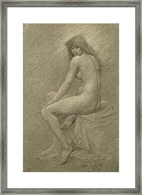 Study For Lilith Framed Print by Robert Fowler