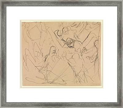 Study For Mourning Framed Print