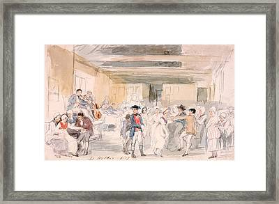 Study For Penny Wedding, 1817 Framed Print