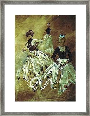 Study For Spanish Rehearsal Framed Print by Podi Lawrence