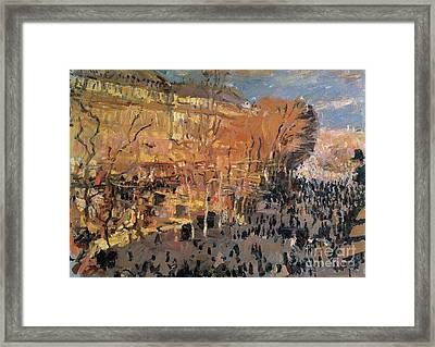 Study For The Boulevard Des Capucines Framed Print by Claude Monet