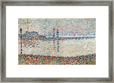 Study For The Channel At Gravelines Evening Framed Print by Georges Pierre Seurat