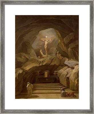 Study For The Chapelle Du Calvaire In The Eglise De Saint-roch Oil On Canvas Framed Print