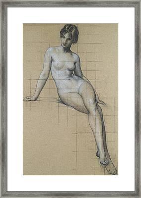 Study For The Kelpie Framed Print by Herbert James Draper