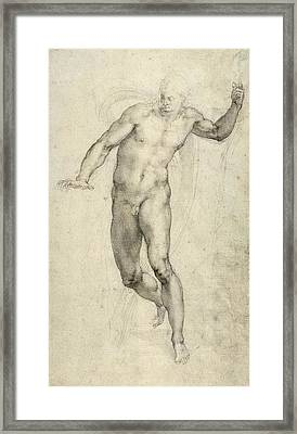 Study For The Last Judgement  Framed Print
