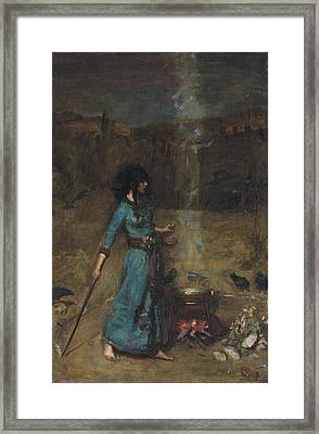 Study For The Magic Circle, 1886  Framed Print by John William Waterhouse