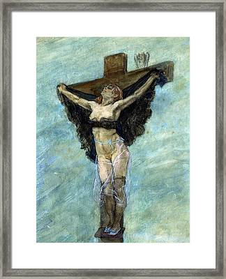 Study For The Temptation Of St Anthony Framed Print by Felicien Rops