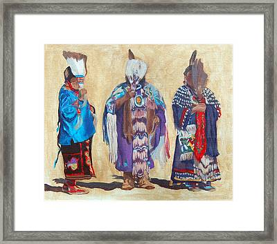 Study For The Three Sentinels Framed Print