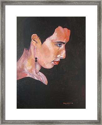 Study For Tricia Dawn Framed Print by Ray Agius