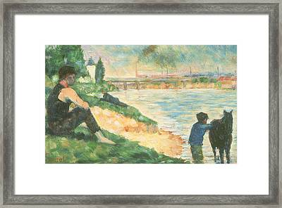 Study For Une Baignade Framed Print