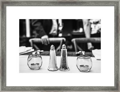 Study In Black And White..salt And Pepper Framed Print