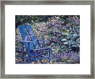 Study In Blue Framed Print by David Lloyd Glover