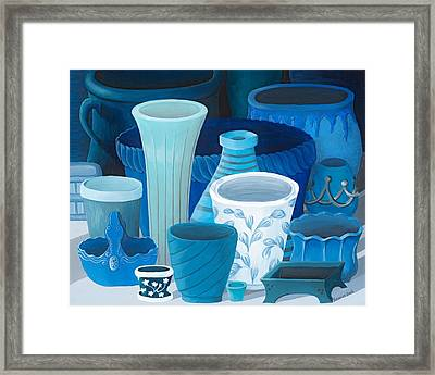 Study In Blue Framed Print