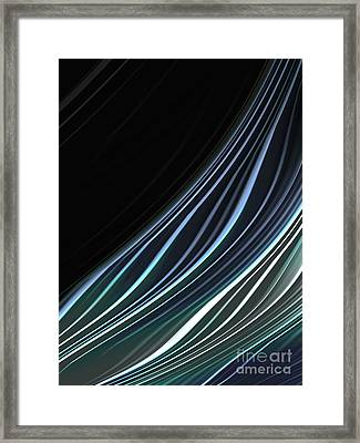 Study In Blues Framed Print