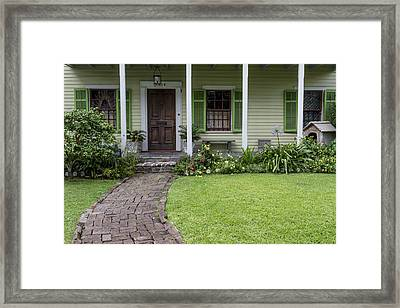 Study In Green Framed Print by David Cote