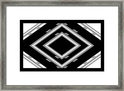 Study In Grey Three Framed Print by Cletis Stump