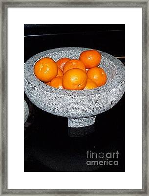 Study In Orange And Grey Framed Print by Susan Williams