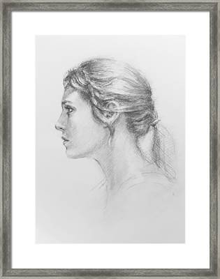 Study In Profile Framed Print by Sarah Parks