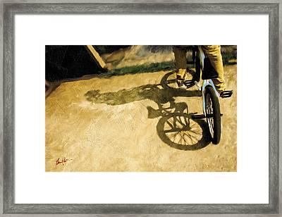 Study In Texture And Shadow Framed Print