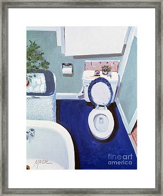 Framed Print featuring the painting Study In White Porcelain by Donald Maier