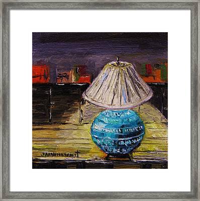 Study Lamp Framed Print by John Williams