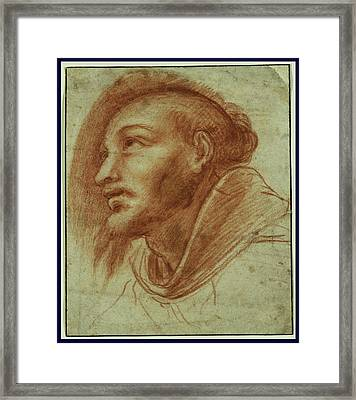 Study Of A Franciscan Monk Possibly Saint Francis Cerano Framed Print