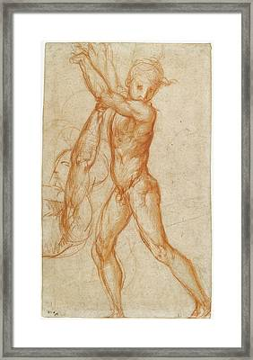 Study Of A Nude Boy, Partial Figure Study Recto Framed Print