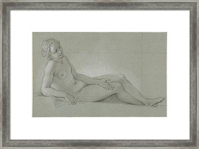 Study Of A Reclining Female Nude Framed Print