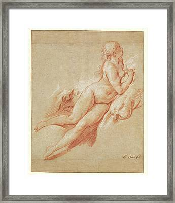 Study Of A Reclining Nude François Boucher Framed Print by Litz Collection
