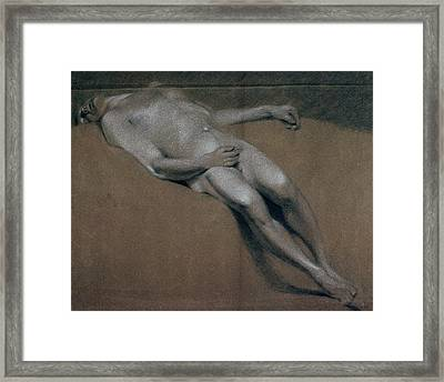 Study Of A Recumbent Male Nude Framed Print by John Constable