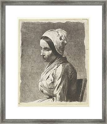 Study Of A Seated Woman, Jan Weissenbruch Framed Print by Jan Weissenbruch