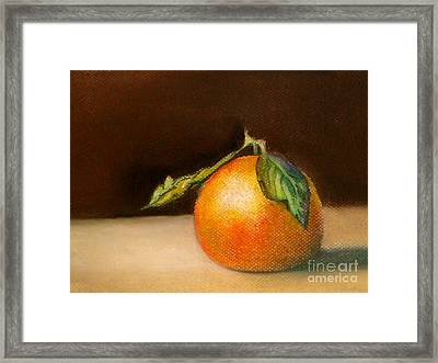 Study Of A Tangerine Framed Print