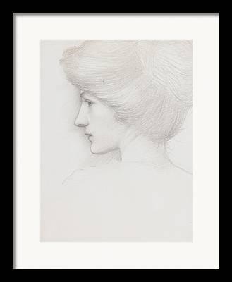 Updo Drawings Framed Prints