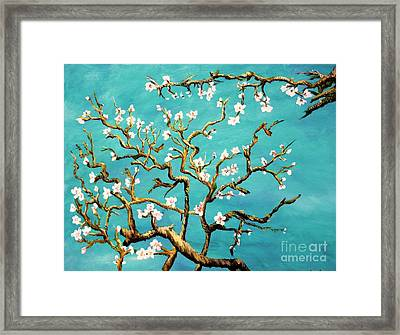 Study Of Almond Branches By Van Gogh Framed Print