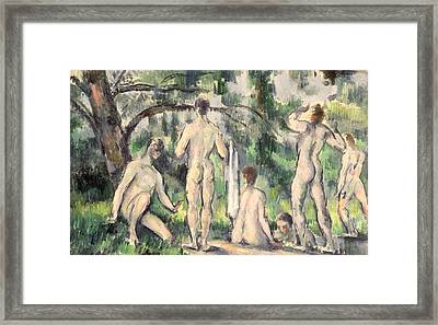Study Of Bathers Framed Print