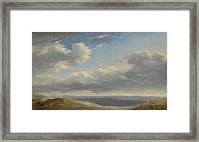 Study Of Clouds Over The Roman Campagna Framed Print by Pierre-Henri de Valenciennes