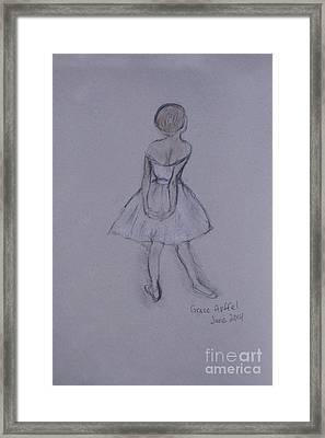 Study Of Degas Ballet Dancer Framed Print by Jennifer Apffel