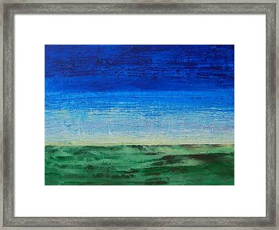 Framed Print featuring the painting Study Of Earth And Sky by Linda Bailey