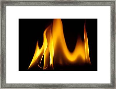 Study Of Flames I Framed Print