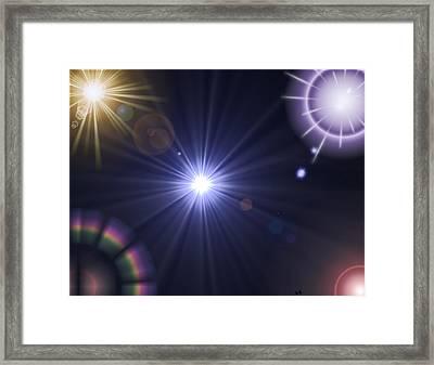 Study Of Light Framed Print by Steve Hermann