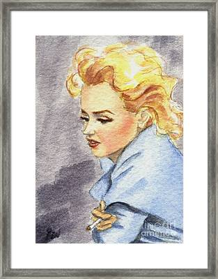 Framed Print featuring the painting study of Marilyn Monroe by Jingfen Hwu