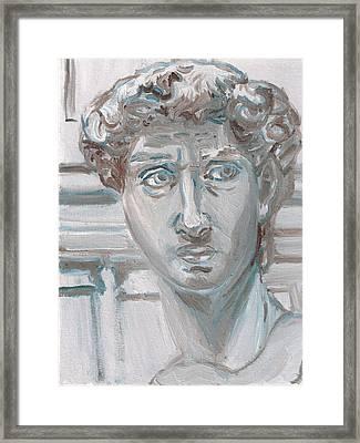 Study Of Michaelangelo's David Framed Print by Jeffrey Oleniacz