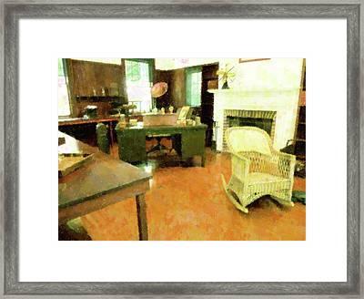 Study Of Old Framed Print by Florene Welebny
