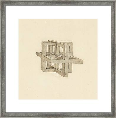 Study Of Perspective  Framed Print by Leonardo Da Vinci