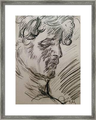 Study Of Richard Framed Print